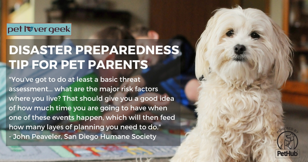 Pet Preparedness Tip - Do a basic threat assessment