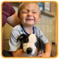 2 year old with cleft lip adopts puppy with cleft lip