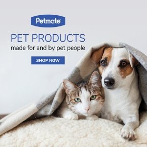 PetMate Pet Products with puppy and kitten