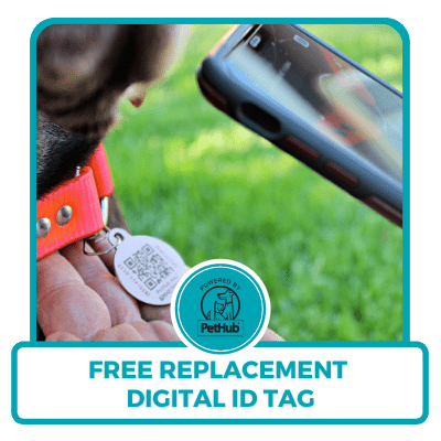 Free replacement PetHub digital ID tag