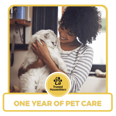One year of pet care from Trusted Housesitters