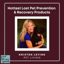 Kristen Levine with black dog