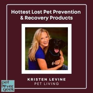 Kristen Levine with black dog